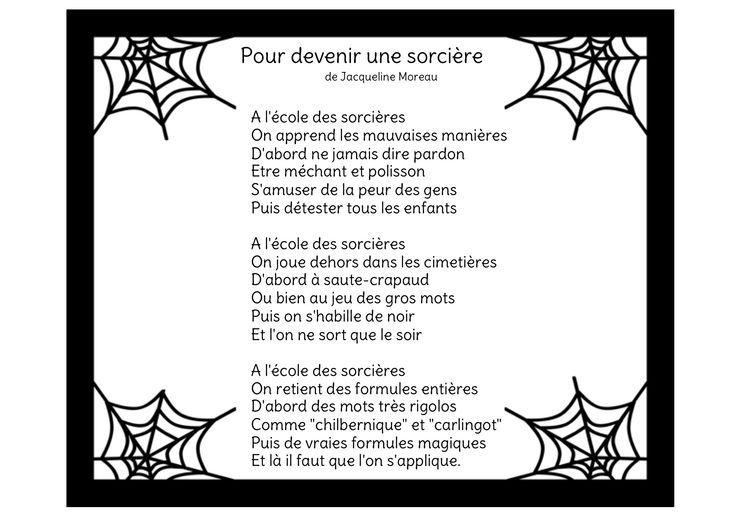 Jacqueline moreau pour devenir une sorci re cm2 sorci re halloween sorciere comptine et - Jeux de sorciere potion magique gratuit ...