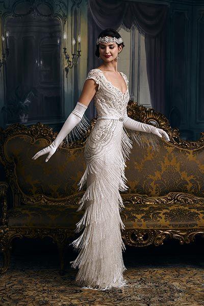 Great Gatsby Wedding Ideas | Chicago 1920u0027s Roxie Hart Wedding Dress By  Elza Jane Howell