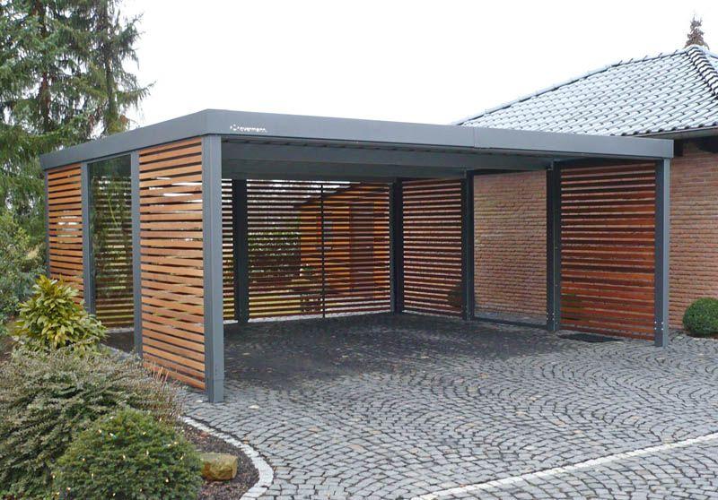 kryté z kovu s plochou strechou | carports | pinterest | carport, Moderne