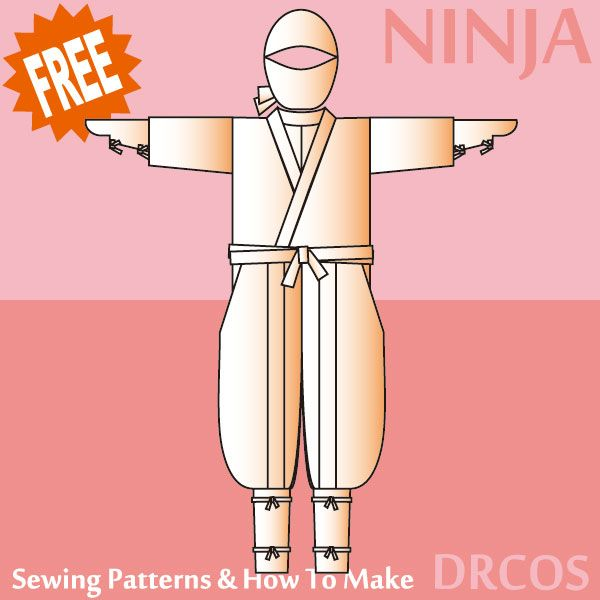 padrões de costura Ninja e como fazer   costura   Pinterest   Kostüm ...