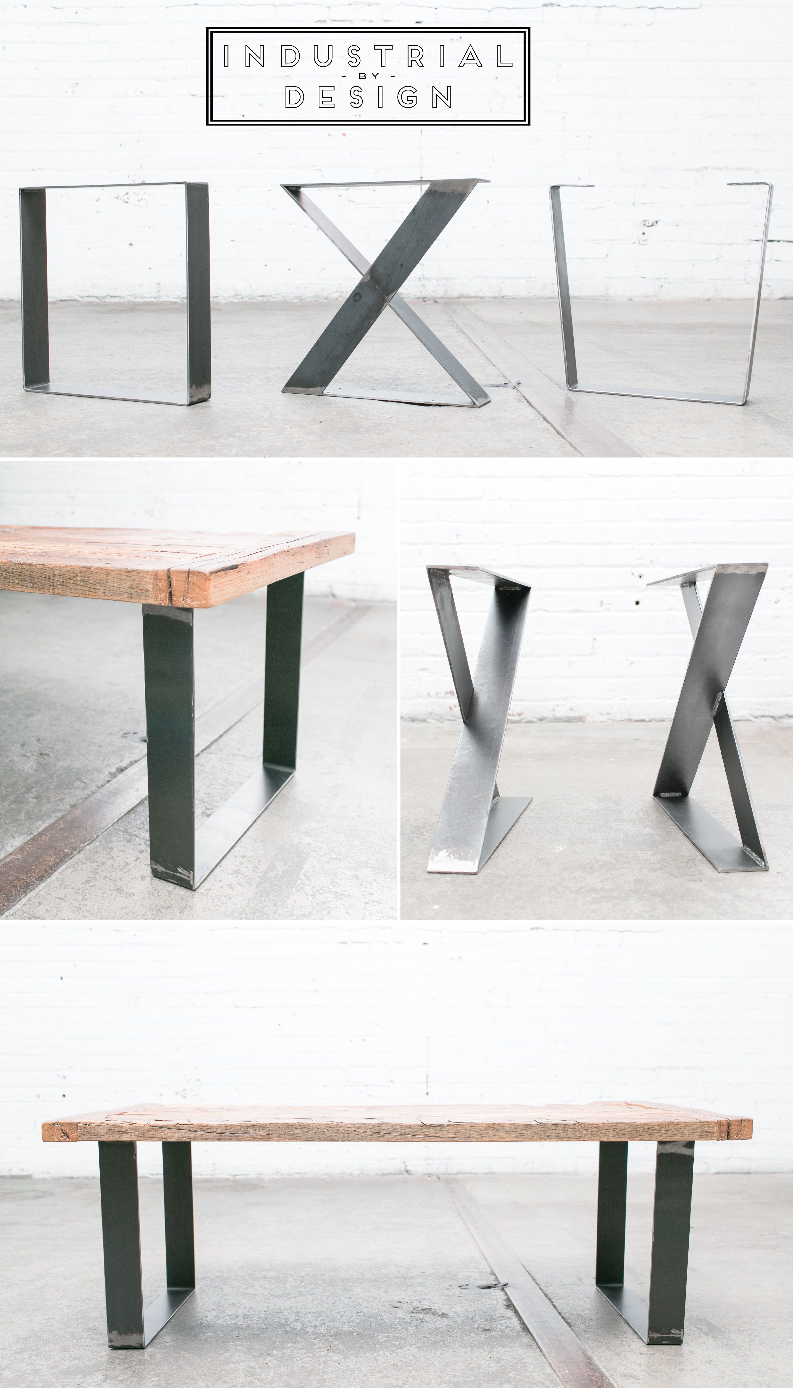 16 Square X Style Trapezoid Diy Modern Frame Legs Raw Steel