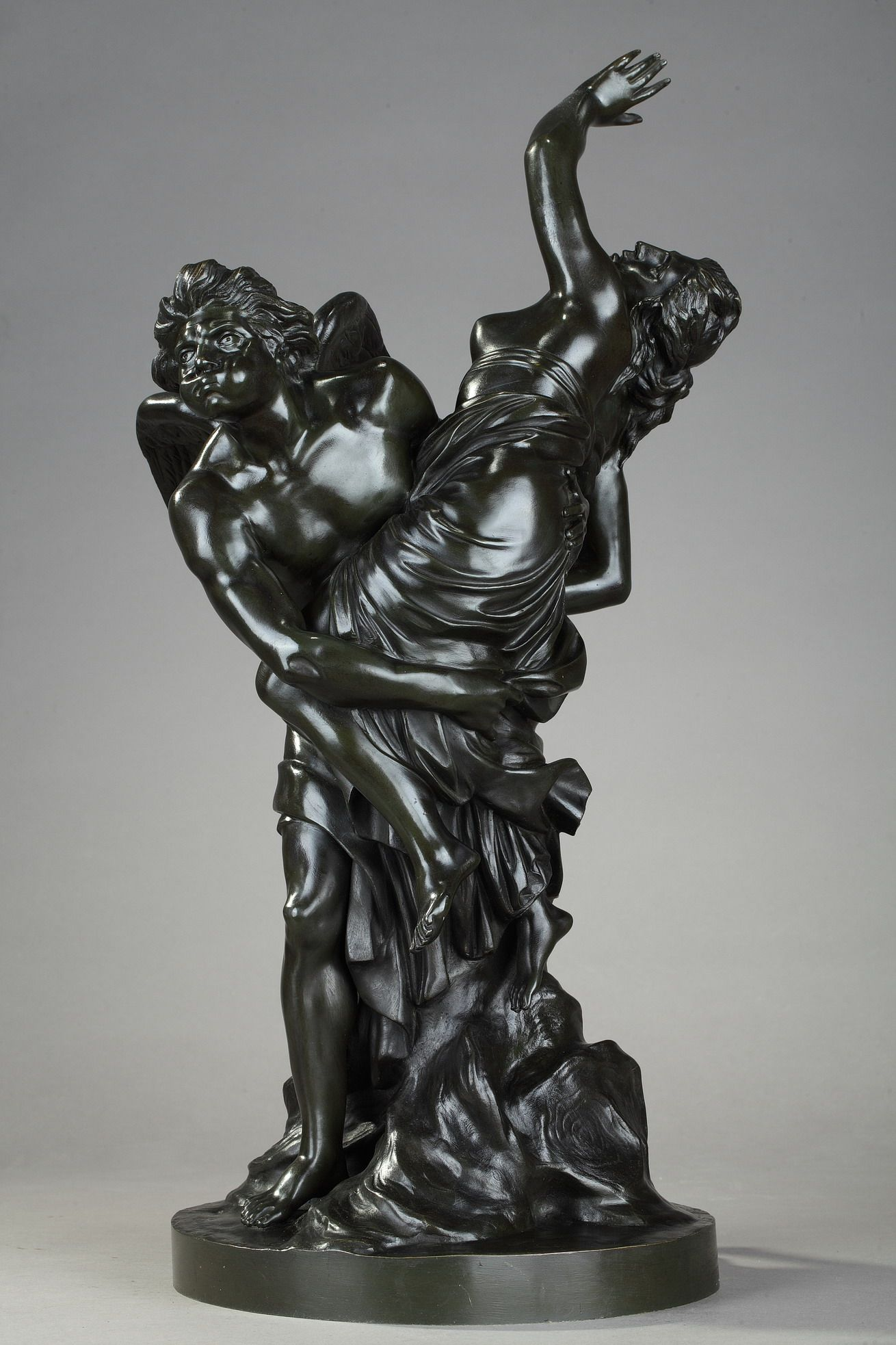 Patinated Bronze Statue Depictig The Rape Of The Nymph Chloris By
