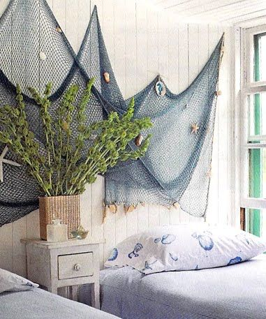 Fishing net as decor would love to have a cast net on for Fish netting decor
