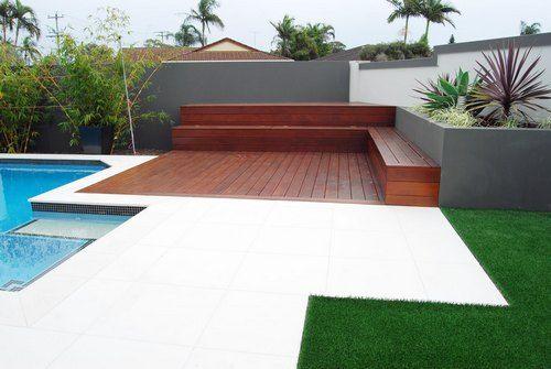 Decking gallery timber deck design decking designs for Above ground pool decks brisbane