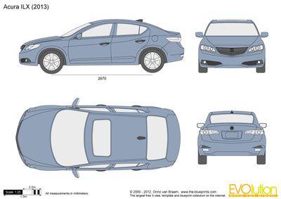 Acura ILX | Automobile Blueprints Cross Sections | Pinterest