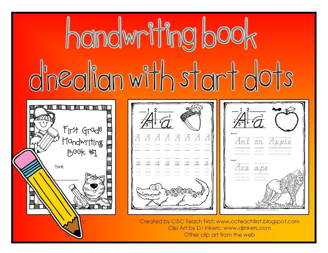 Free D Nealian Handwriting Book To Share With You