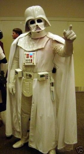 White Darth Vader Suit