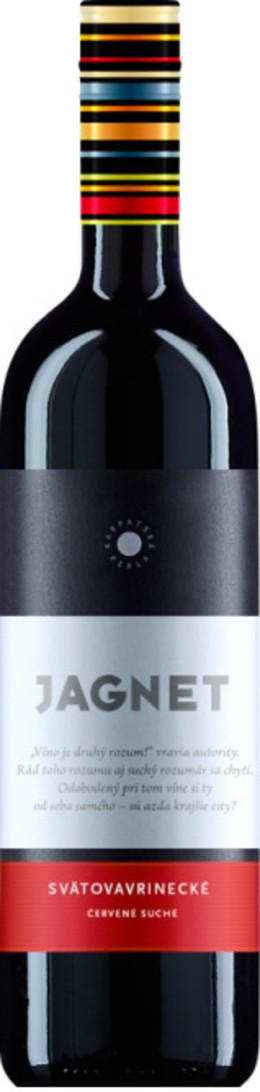 Karpatská Perla Jagnet Svätovavrinecké, Južnoslovenská oblasť, r2009, akostné víno, červené, suché 0,75L