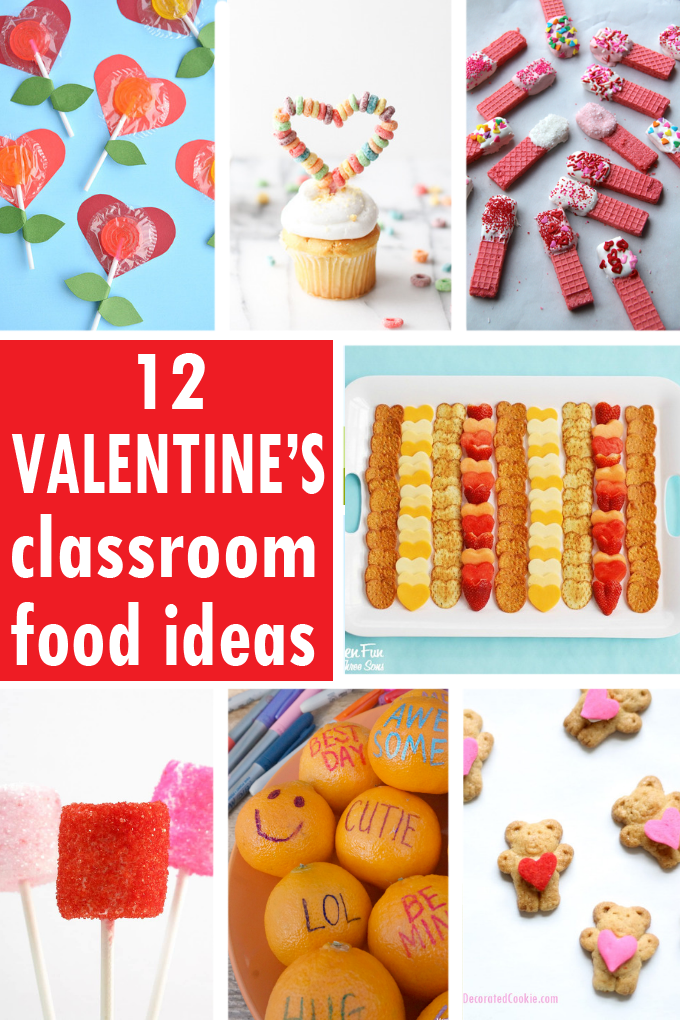 A Roundup Of 12 Valentine S Day Classroom Party Food Ideas Valentinesday Classroompar Valentines Party Food Classroom Party Food Kids Valentines Party Food