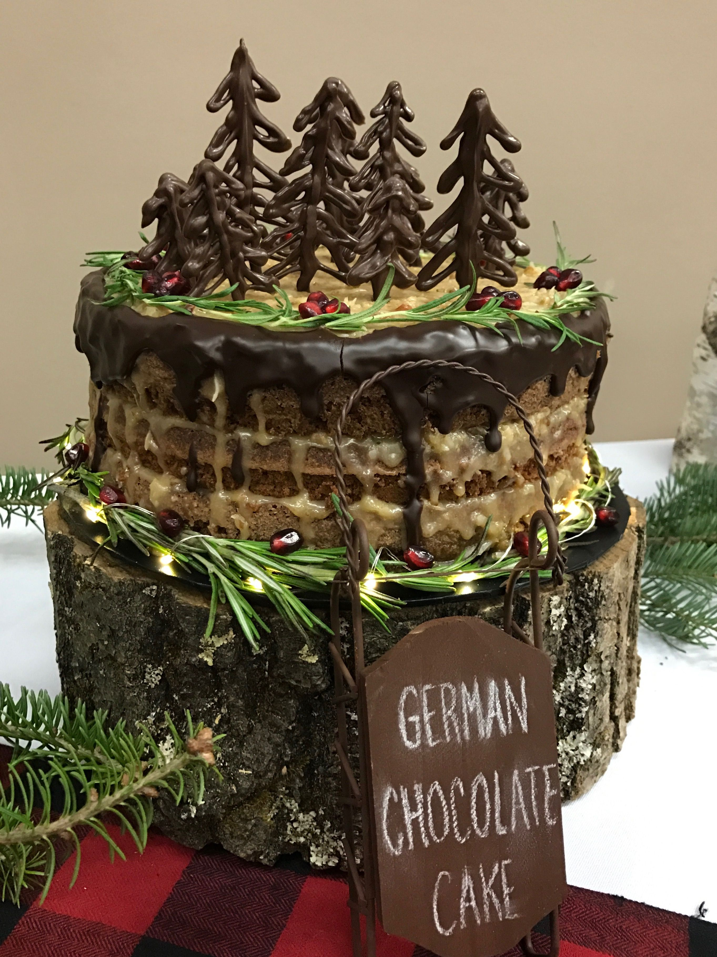 Rustic German Chocolate Christmas Cake | Cakes/Cookies I Decorated ...
