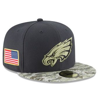 Youth New Era Graphite Camo Philadelphia Eagles Salute To Service Sideline  59FIFTY Fitted Hat 5dc4416c908