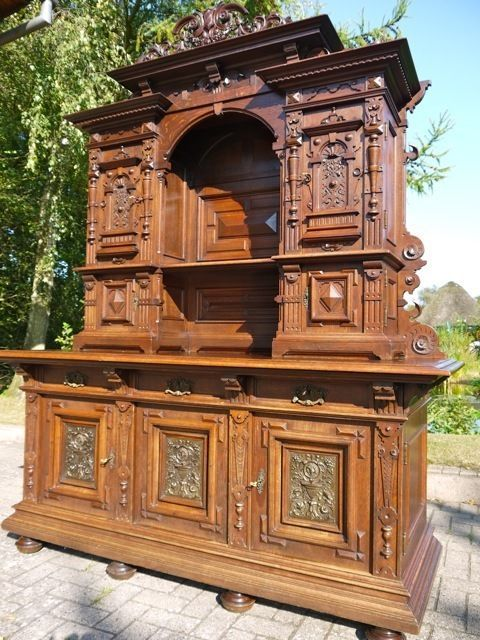 monumentales b ffet aus der gr nderzeit berlin um 1880 90 neo renaissance pinterest. Black Bedroom Furniture Sets. Home Design Ideas