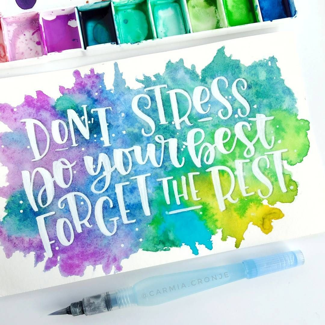 Day 16 Of Sunshinethruaugust Hand Lettering Art Watercolor