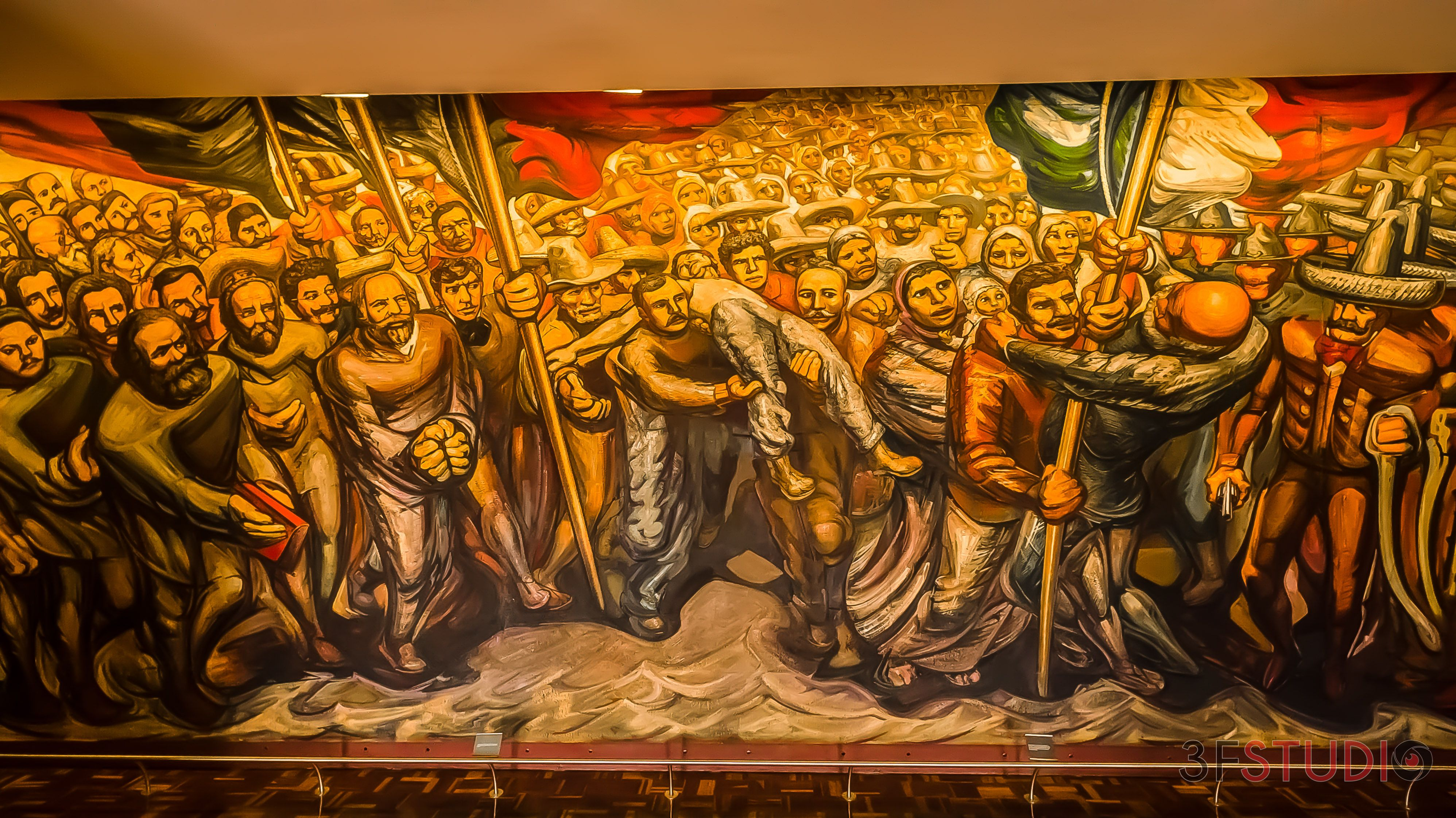 Mural Castillo De Chapultepec David Alfaro Siqueiros Con Imagenes