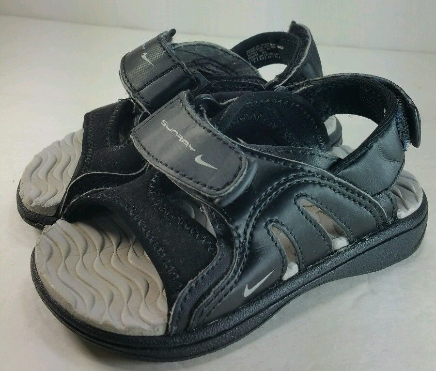 dc5f65cafddb Nike Sunray Sandals Black Size 5 Adjustable Toddler Nike Play Free Shipping   Nike  Sandals