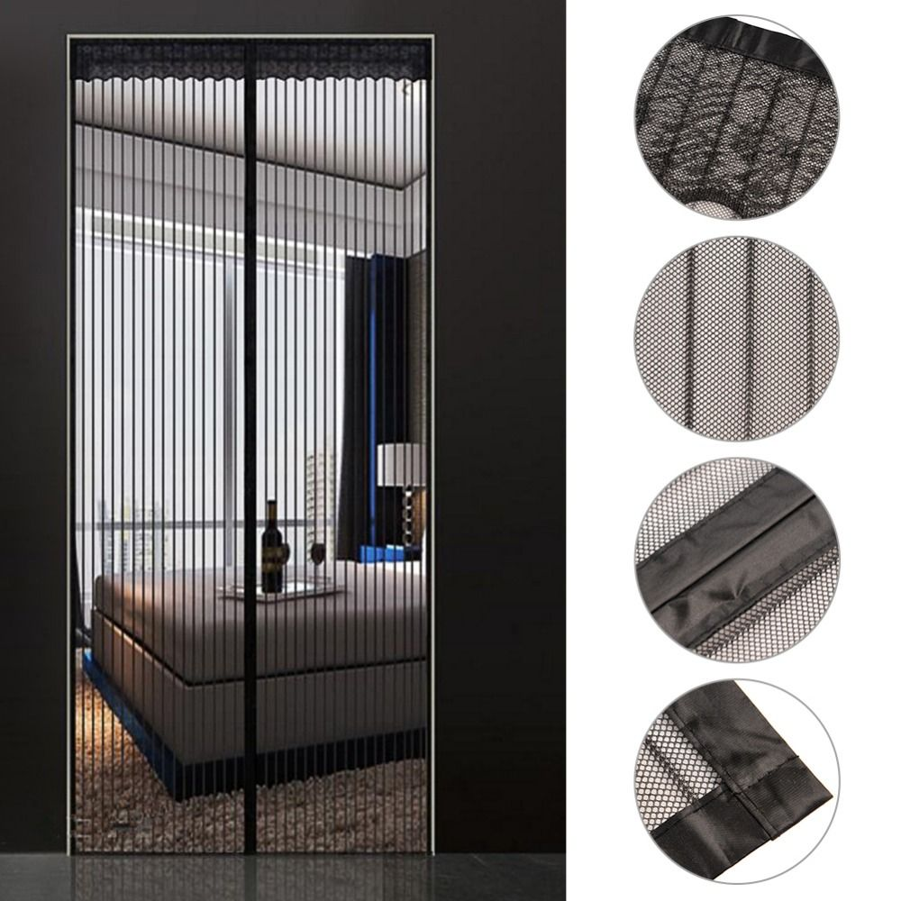 32x82 Inch Reinforced Magnetic Screen Door Curtain Anti Mosquito