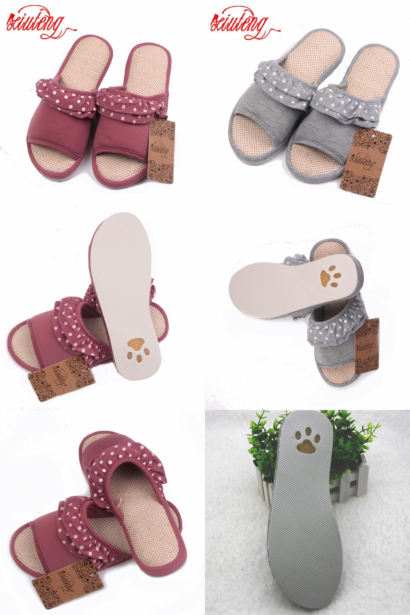 Visit to Buy  2017 Women Summer Sandals Hemp Soft Slippers Lace decoration Casual  Shoes e03d2f40275c