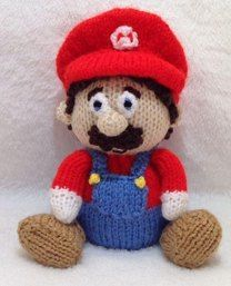 KNITTING PATTERN Mario the Super Plumber inspired choc orange cover //15cms toy