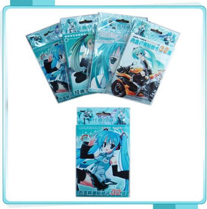 Vocaloid Card(5 boxes of 32 pcs each)  YOU-Q Anime Wholesale: Home > Popular Anime > Vocaloid > Vocaloid Card(5 boxes of 32 pcs each)  More Details:  http://www.you-q.net/goods-13226.html  Our Homepage: http://www.you-q.net