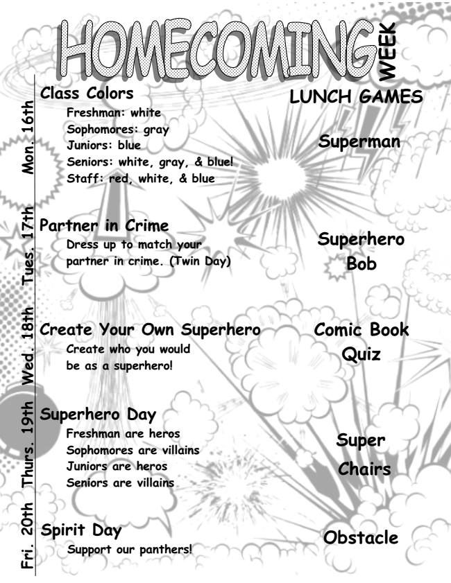 Love the create your own superhero day and each grade