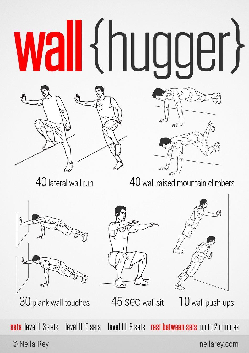 Wallhugger Workout 100 Workout No Equipment Workout Neila Rey Workout