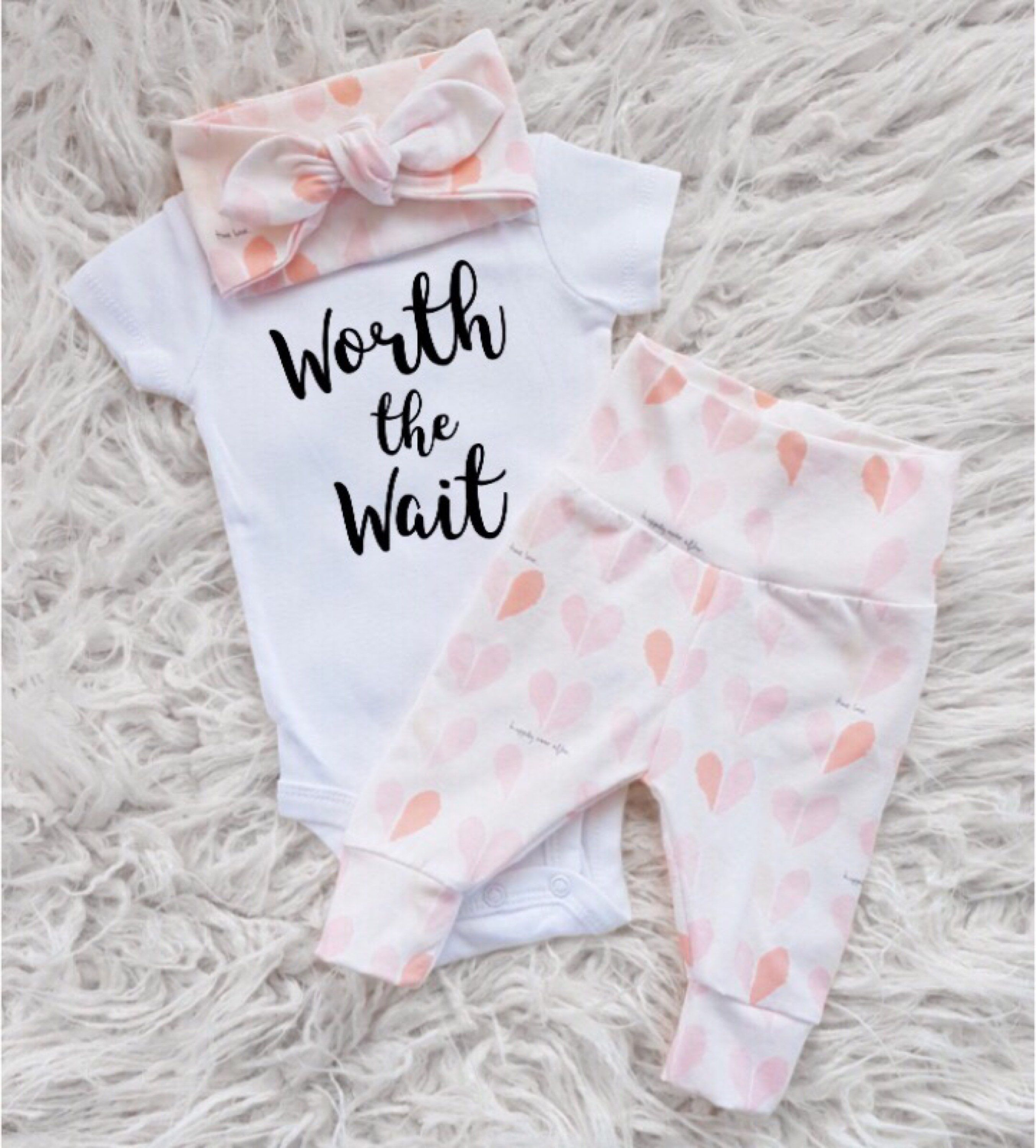 9728ccc15 baby going home outfit girl babys first outfit home girl pink baby girl  clothes girly baby outfit girly clothes newborn girly baby by EatSleepDrool  on Etsy