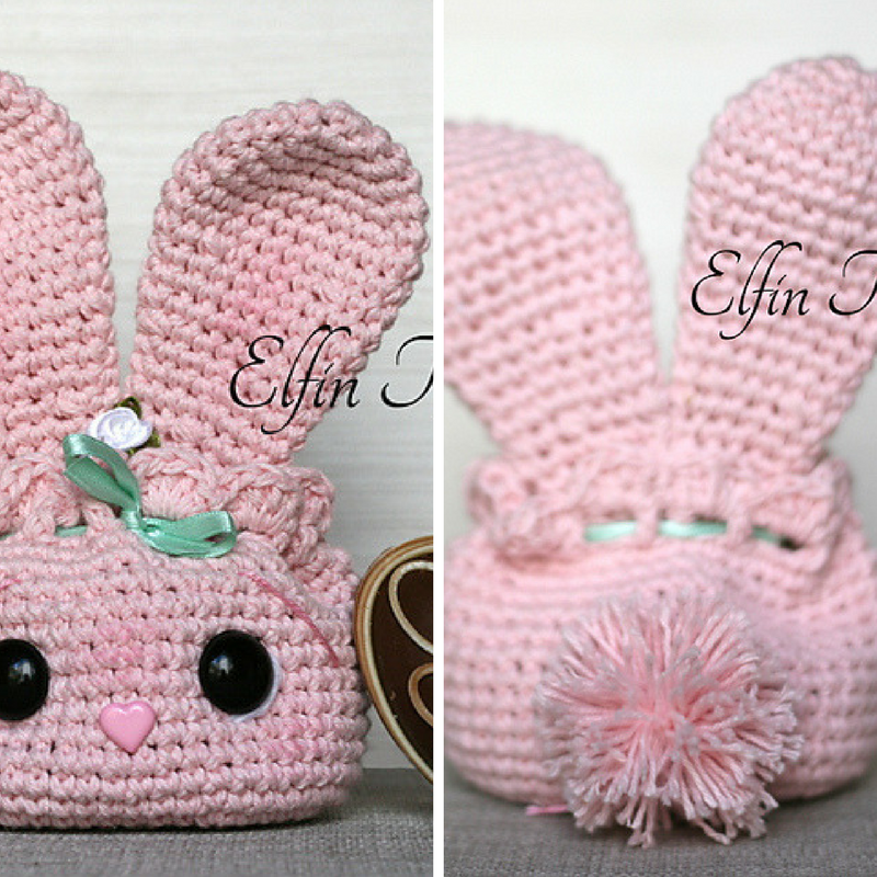 Incredibly Cute Easter Bunny Pouch [Free Pattern | Pinterest
