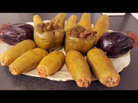 الكوسا المحشي مع الفليفلة والباذنجان مع تعليم كيفية الحفر للمبتدئين Youtube Food Middle Eastern Recipes Cooking