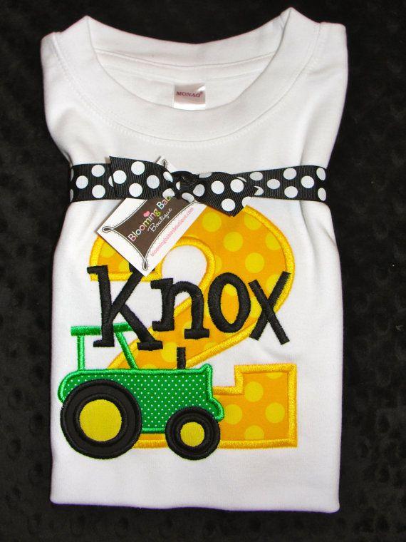 Tractor John Deere Birthday Shirt By Bloomingbabies On Etsy 3400
