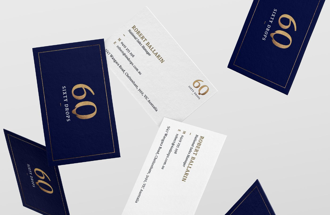 Sixty Drops Branding And Wine Label On Behance Wine Label Labels Branding