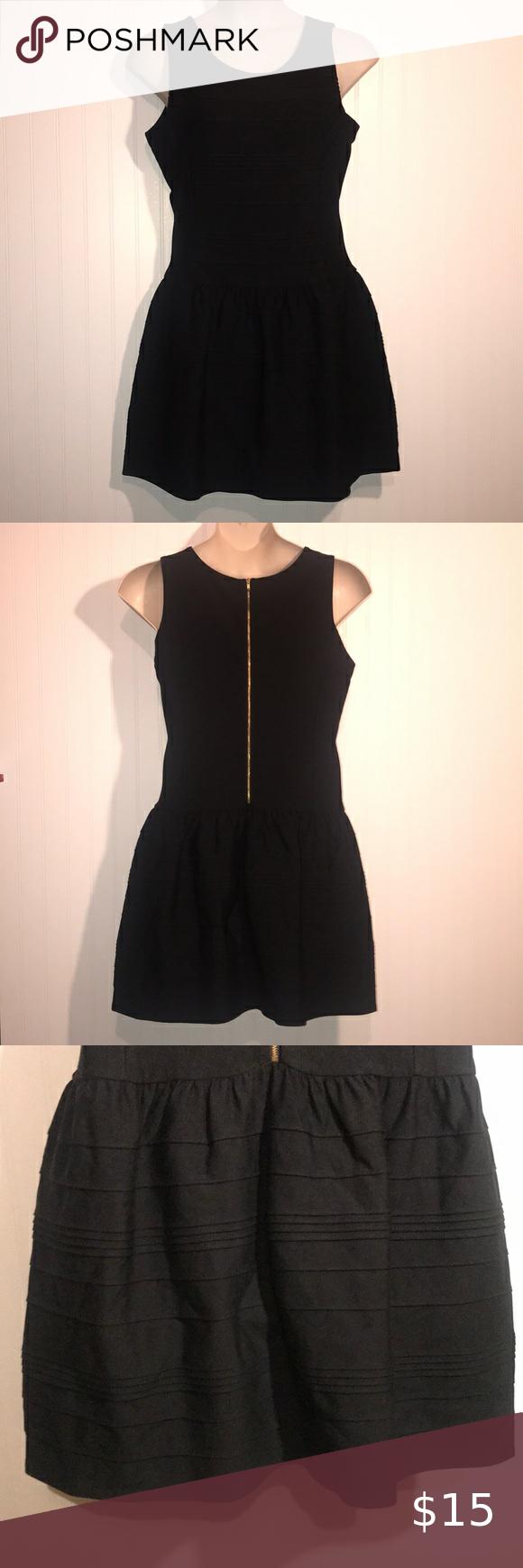 Worthington Little Black Dress Gold Zipper Back Little Black Dress Gold Dress Black Dress [ 1740 x 580 Pixel ]