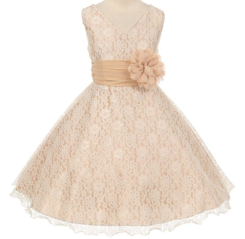 Rachel : Plus Size Girls Special Occasion Dress in Peachy Tan | Plus ...