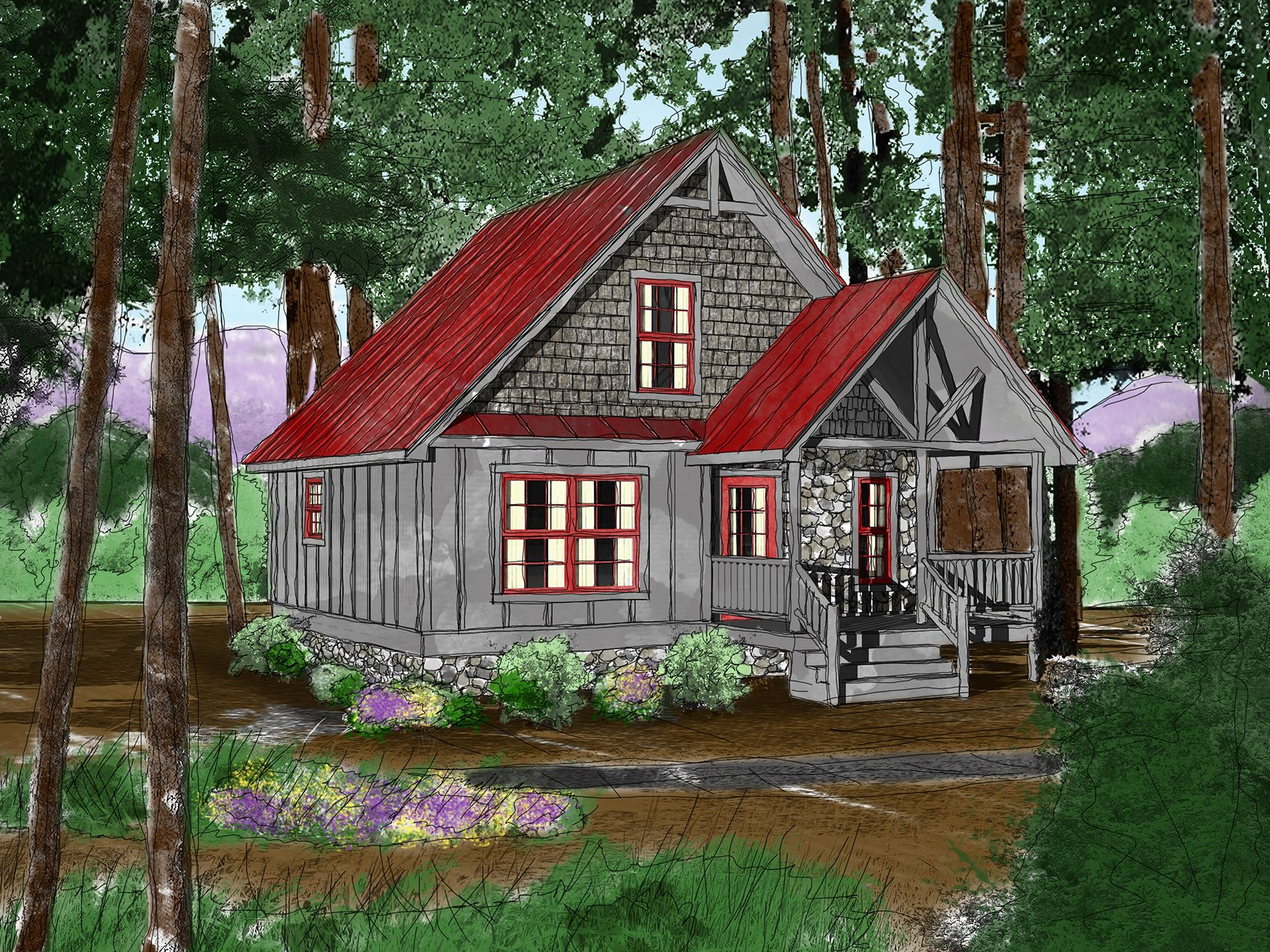 Cool 800 sq ft cozy cabin tiny home by mountain for 800 square foot log cabin plans