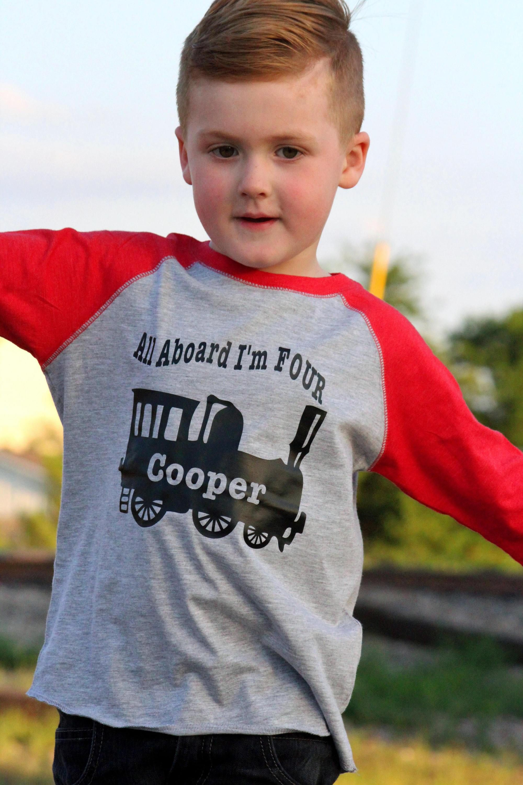 This Is A Custom 4th Birthday Train Shirt For Your Fan