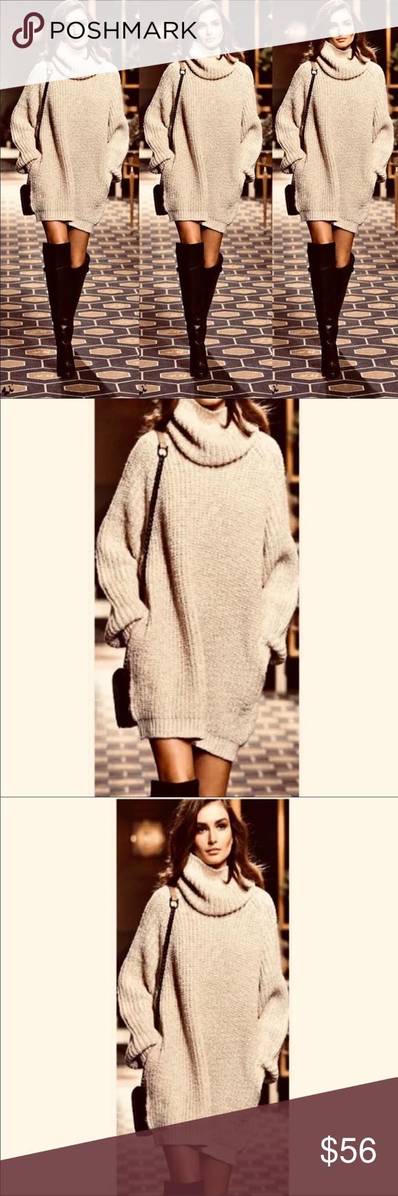 c46b2c1b101 ✨COZY & SEXY TURTLENECK SWEATER/ SWEATER DRESS-TAN Boutique