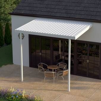 Feria 20 Ft W X 10 Ft D Plastic Standard Patio Awning In 2020 Patio Awning Patio Patios