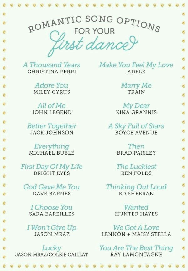 more for just songs we have a first song wedding planning ideas