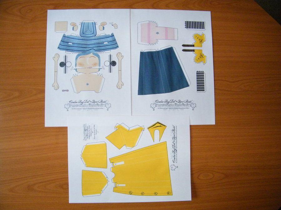 Coraline Rag Doll Kit By Bigunknown On Deviantart Coraline Papercraft Printable Paper Dolls