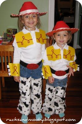 DIY Jessie (Toy Story) Toddler Costume - no sewing!  9b9af68bc48a