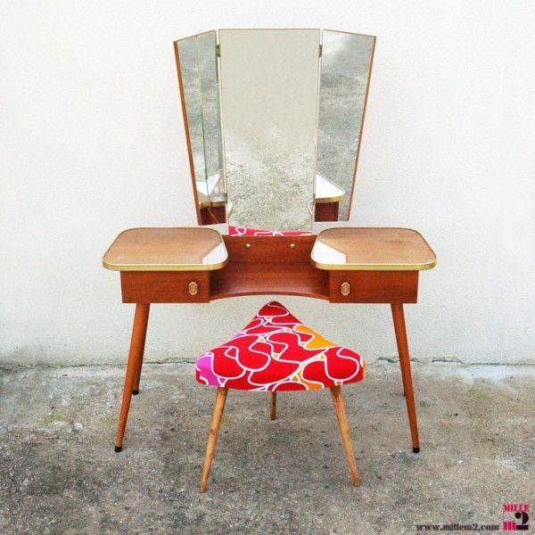 Coiffeuse Vintage Des Annees 50 60 Mille M2 Coiffeuses Vintage Mobilier De Salon Relooking De Commode
