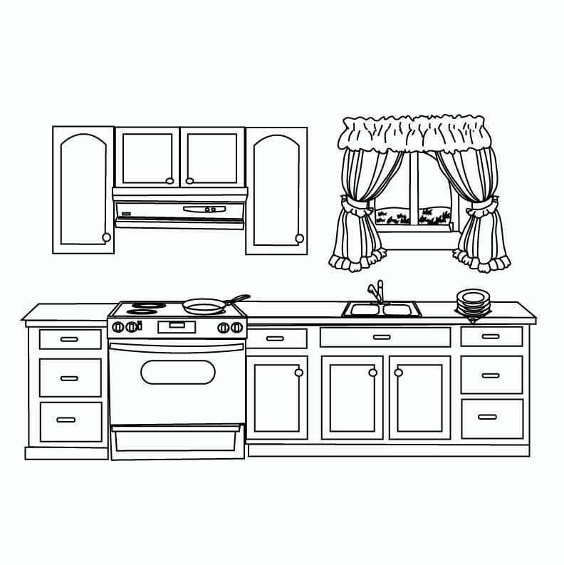 Ausgezeichnet Küche Malvorlagen 2 Fotos - Druckbare Malvorlagen ...