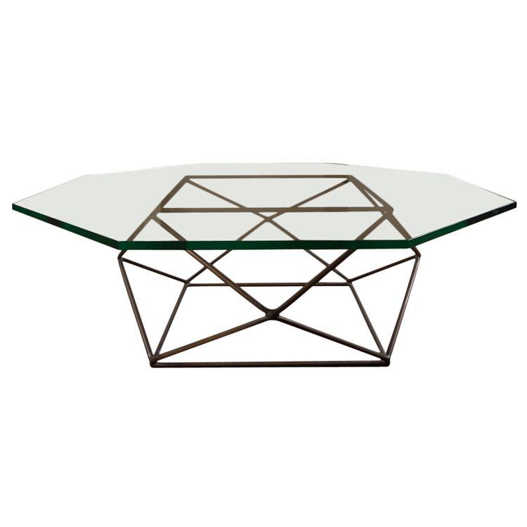milo baughman geometric table table basse tableau objets meubles en verre
