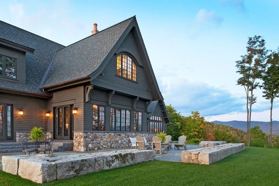Stone And Hardie Board Mountain Home Exterior House Exterior