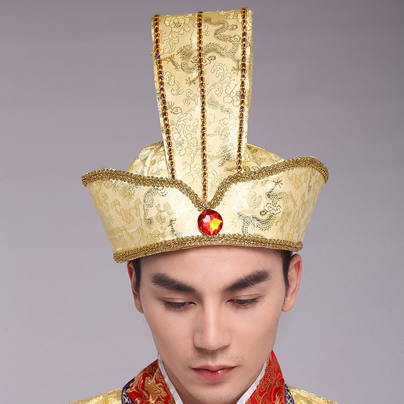 Vintage Hair Accessories Chinese Ancient Dynasty Warrior Cosplay Prince Cosplay Head Wear Prince Crown Emperor Crown King Novelty & Special Use Kids Costumes & Accessories