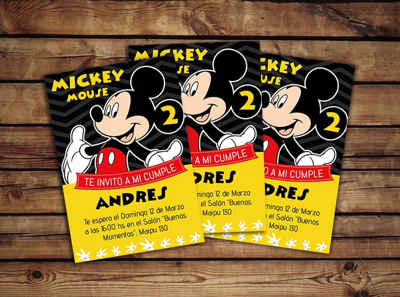 Invitación De Cumple Mickey | Mickey mouse, Fiesta mickey and Mickey ...