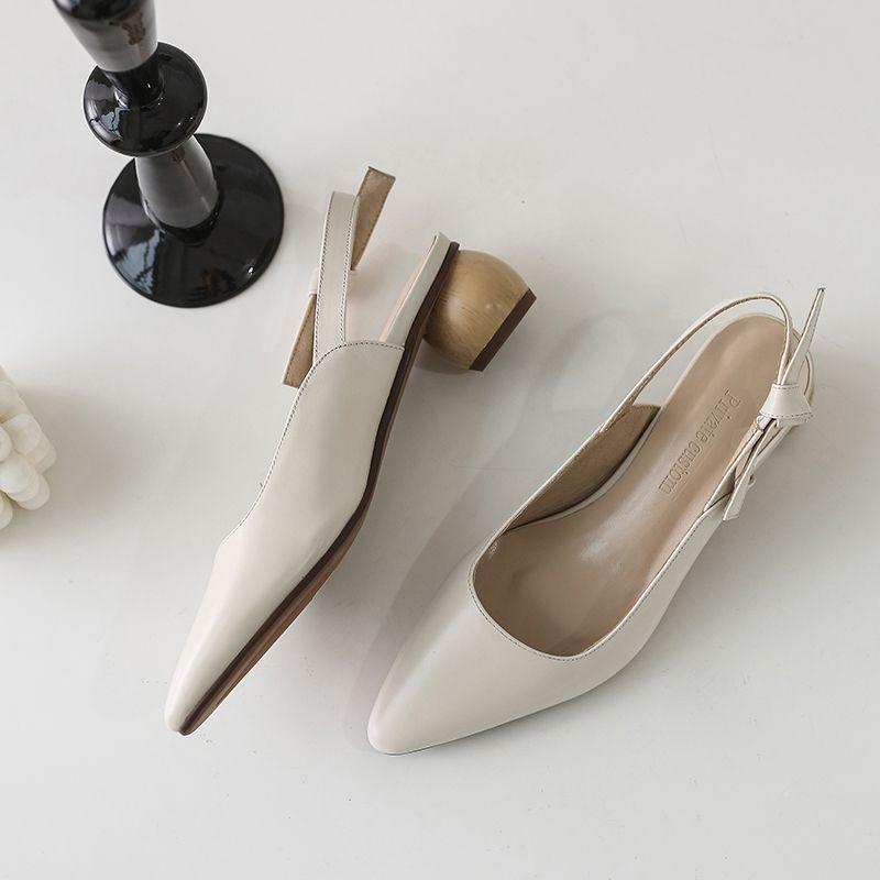 Chiko Elissa Pointed Toe Block Heels Pumps feature pointed toe, approx. 5 cm block heels, rubber sole.