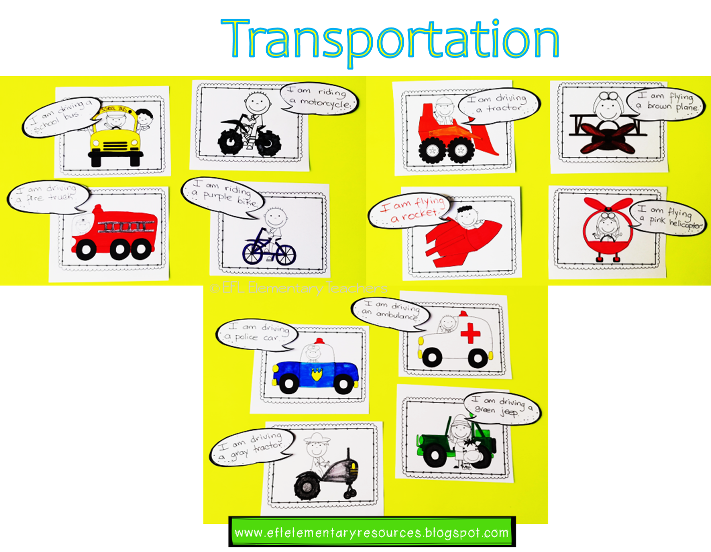 Esl Transportation Worksheets For Writing Students Write