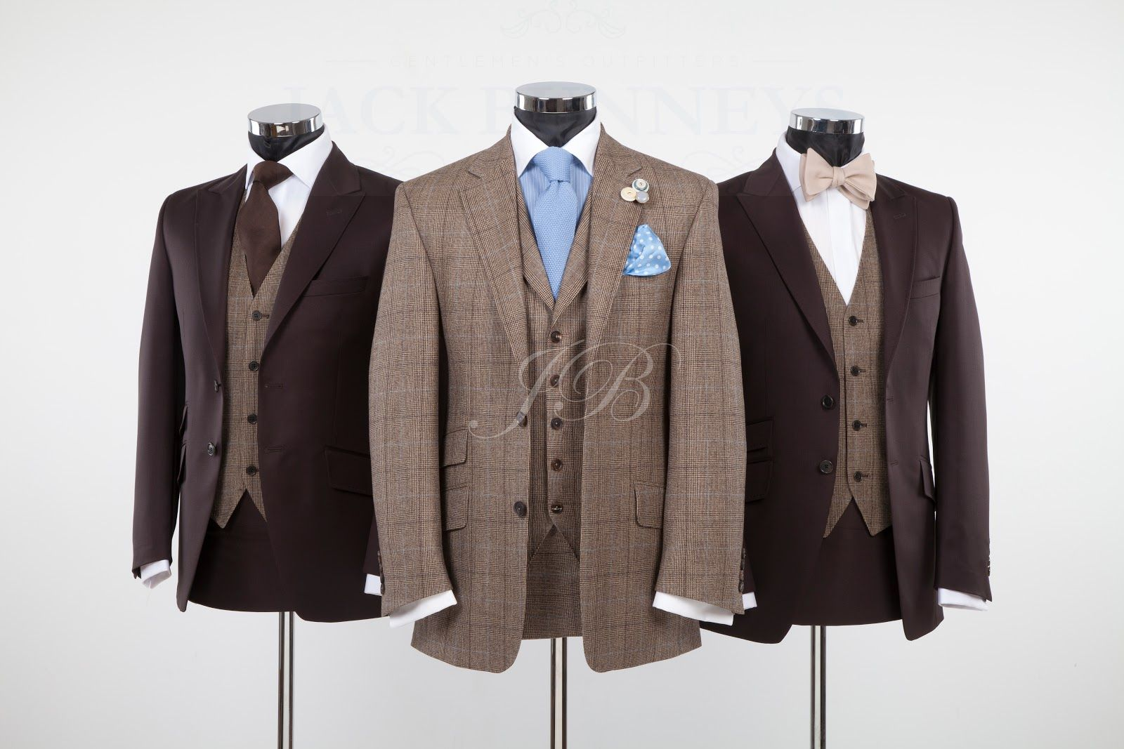 Bespoke Hire Option 1. Check Suit: Made to measure. Brown Suit ...