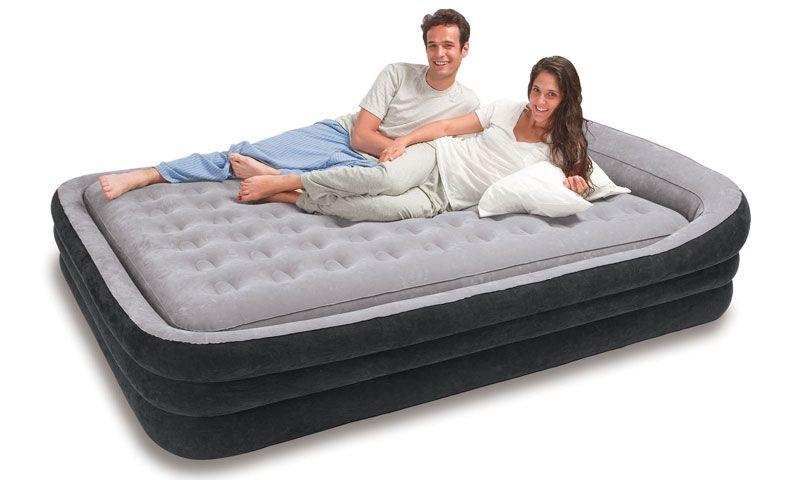 Intex Comfort Frame Queen Air Bed Mattress Air Mattress Inflatable Bed
