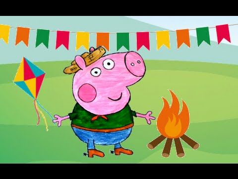 Peppa Pig Portugues - Desenho do George Pig Festa Junina Completo 2016 TKG